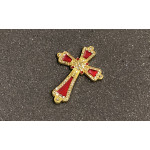 CRIMSON JEWELED CROSS